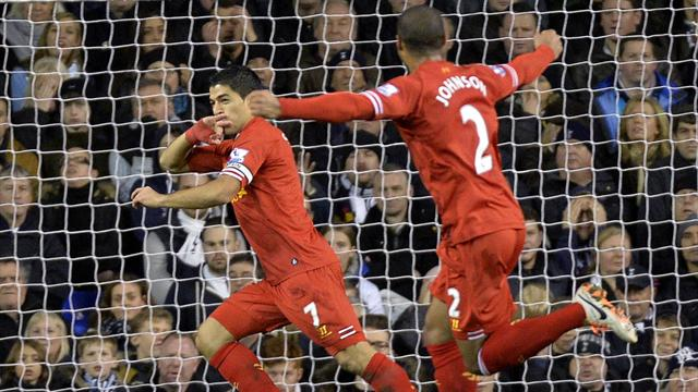 Premier League - Suarez inspires Liverpool to record defeat of 10-man Spurs