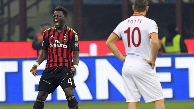 Serie A - Milan peg Roma back twice in San Siro draw