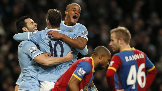 Premier League - Dzeko scores only goal as City see off resilient Palace