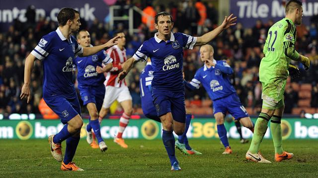 Premier League - Baines penalty salvages point for Everton at Stoke