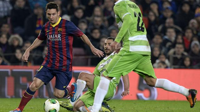 Liga - Messi comes off bench to score twice on Barca return