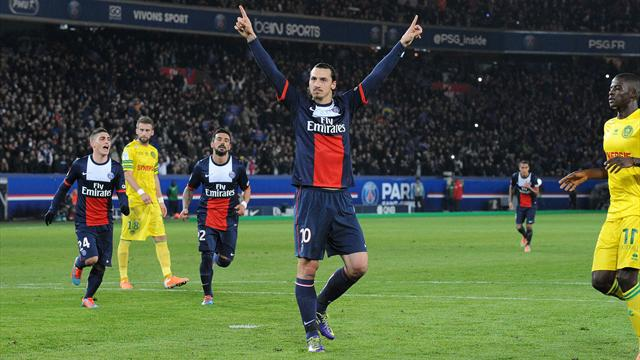 Ligue 1 - Ibrahimovic nets twice as PSG crush Nantes