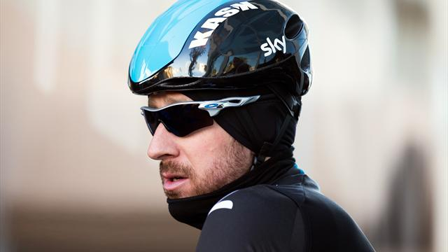 Photo: Eurosport - MALLORCA, SPAIN - FEBRUARY 04: Sir Bradley Wiggins of Great Britain prepares for a training ride on a Team SKY Training Camp Media Day on February 4, 2014 in Mallorca, Spain. (Photo by Bryn Lennon/Getty .