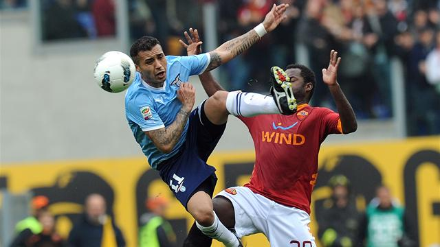 Serie A - Lazio hold on to beat Roma