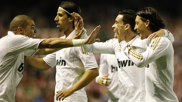 Real Madrid win Liga title in Bilbao