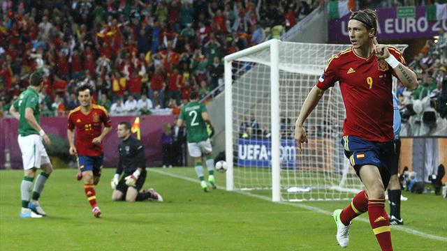 Torres at the double as Ireland crash out