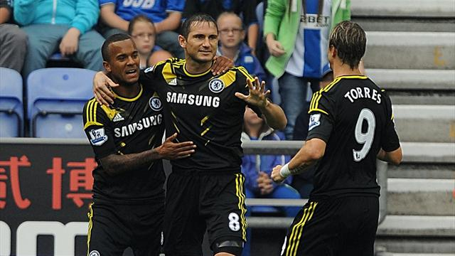 Hazard inspires Chelsea to win at Wigan