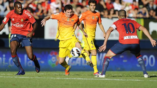 Messi to the rescue as Barcelona beat Osasuna