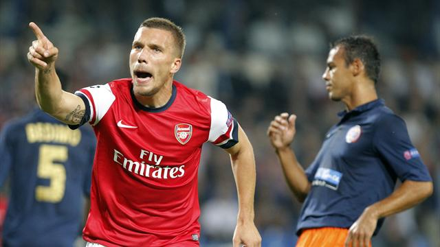 Champions League - Arsenal hold on for nervy win at Montpellier