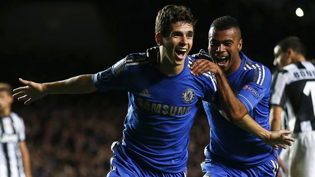 Juventus hold Chelsea despite Oscar brace