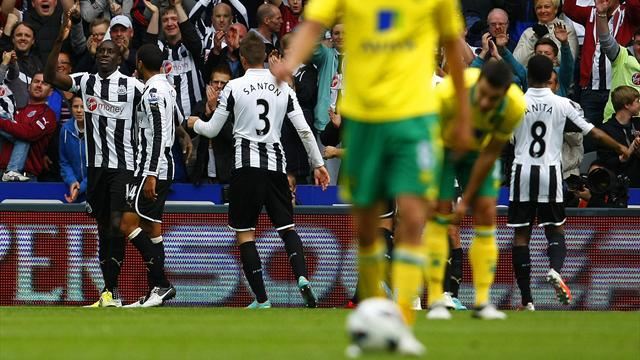 Demba Ba fires Newcastle past Norwich