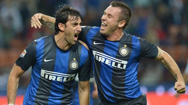 Inter move third in table with first home win of season