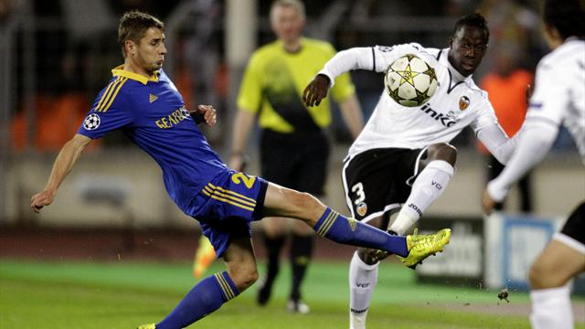 Champions League - Valencia win at BATE with Soldado hat-trick