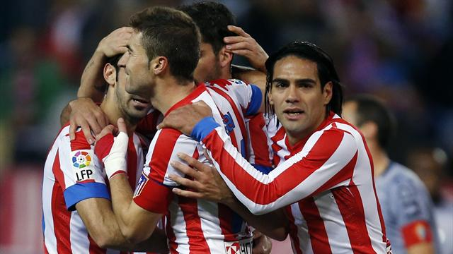Spanish Liga - Falcao scores again as Atletico keep up pressure