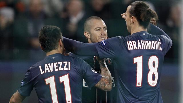 Champions League - Ibrahimovic stars as PSG crush Dinamo Zagreb