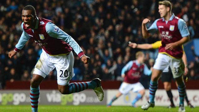Premier League - Benteke nets late winner for Villa