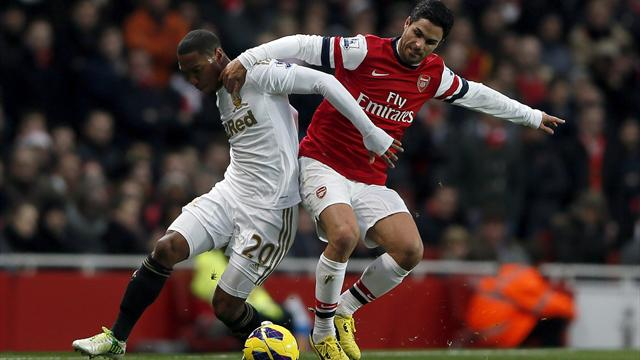 Premier League - Michu double hands Swansea shock win at Arsenal