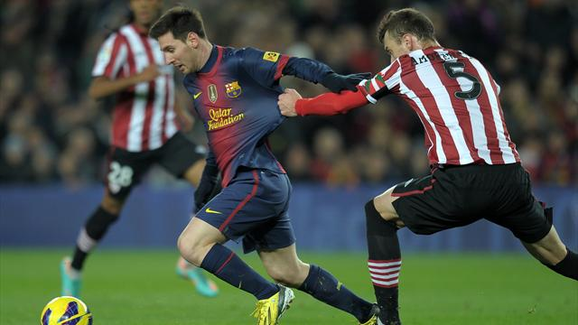 Liga - Barca crush Athletic as Messi edges closer to record