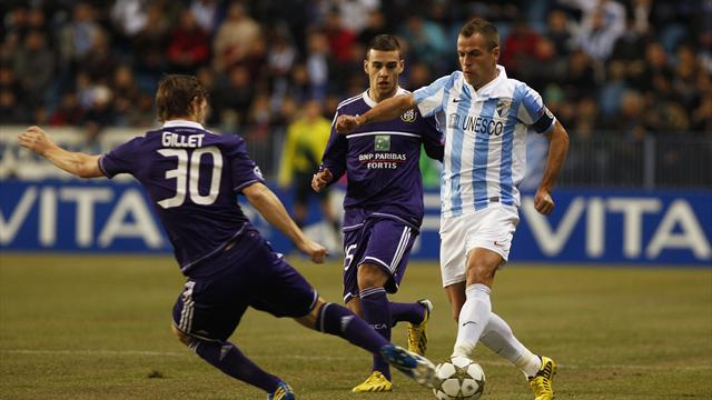 Champions League - Unbeaten Malaga send Anderlecht out of Europe