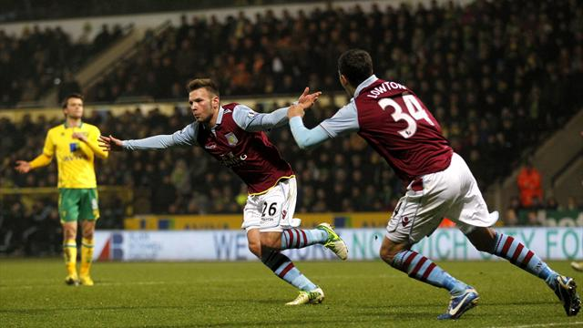 League Cup - Weimann hits brace as Villa sink Norwich