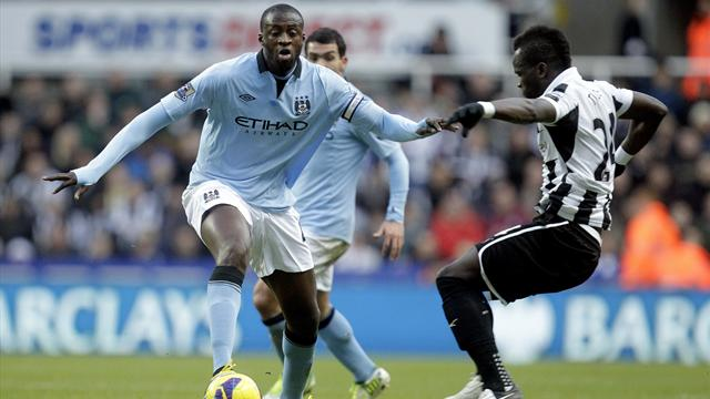 Premier League - Yaya Toure haunts Newcastle again in Man City victory