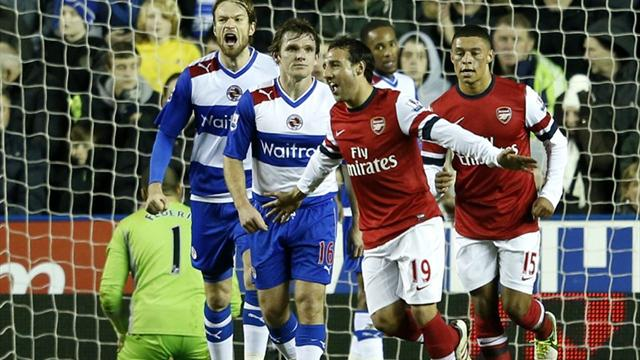 Premier League - Cazorla hits treble as Arsenal outclass Reading