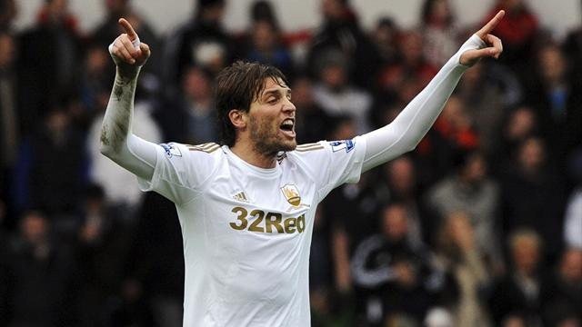 Premier League - Michu hot streak continues as Swansea hold United
