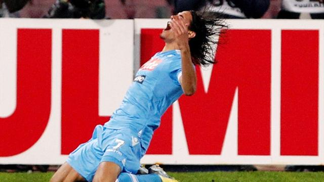 Italian Serie A - Cavani hat-trick floors Roma