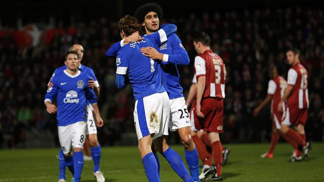 FA Cup - Everton hit five to ease past Cheltenham
