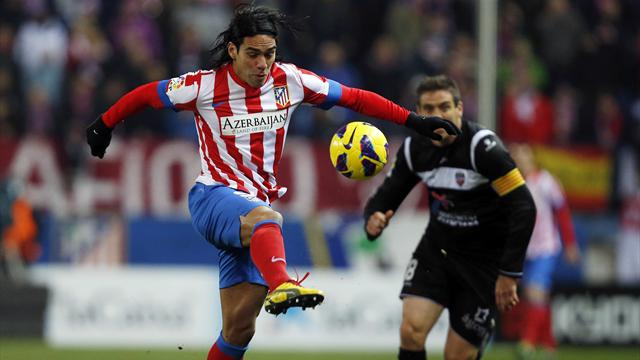 Spanish Liga - Falcao injury sours Atletico Madrid  win