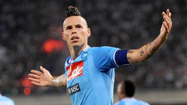 Italian Serie A - Hamsik puts Napoli level with Juventus