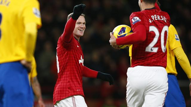 Premier League - Rooney hits brace as United go seven points clear
