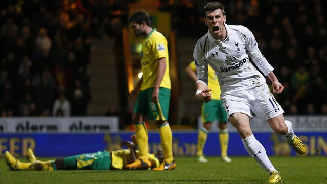 Premier League - Bale beauty grabs point for Spurs at Norwich
