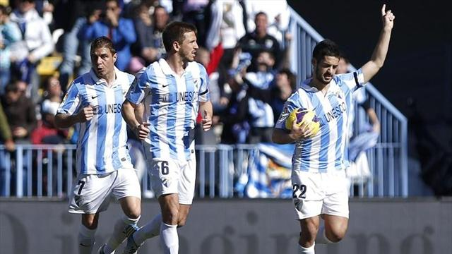 Spanish Liga - Malaga and Zaragoza battle to draw