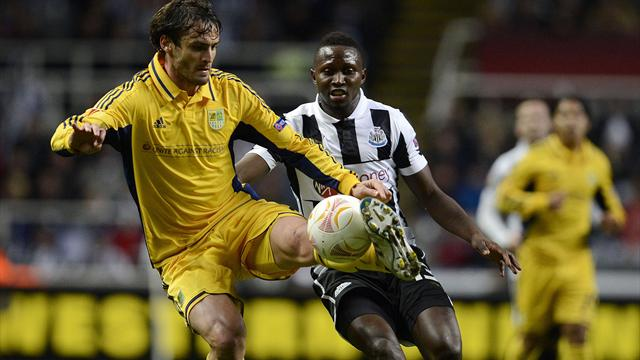 Europa League - Newcastle rue disallowed goals in Metalist draw