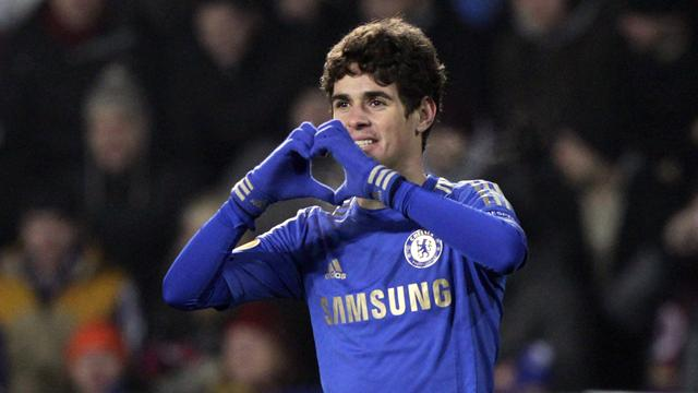 Europa League - Super-sub Oscar steals win for Chelsea in Prague