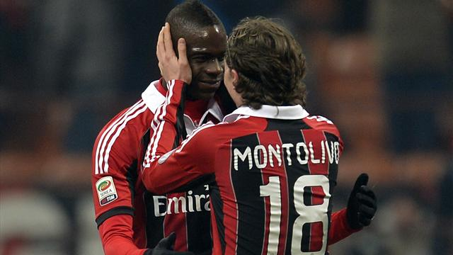 Italian Serie A - Balotelli magic gives Milan another win