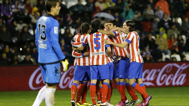 Liga - Falcao helps Atletico past Valladolid
