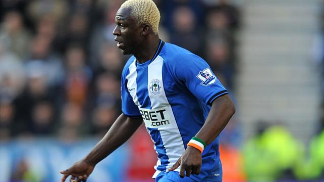 Premier League - Kone double lifts Wigan out of bottom three