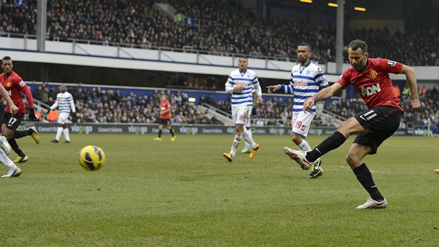 Premier League - Giggs on target as United deepen QPR misery