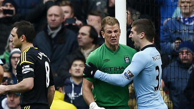 Premier League - Hart save inspires Man City to win over Chelsea