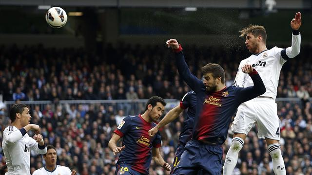 Liga - Ramos heads winner as Real Madrid win stormy Clasico