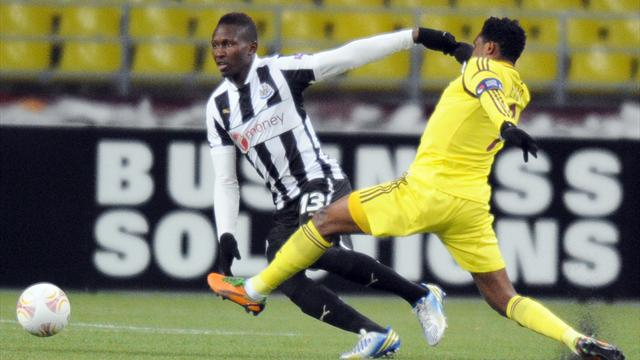 Europa League - Newcastle boost hopes with draw at Anzhi