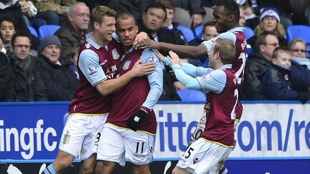 Premier League - Villa out of drop zone as Reading hit bottom