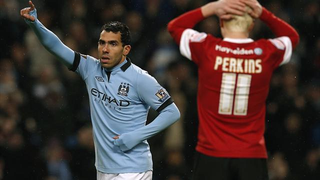 FA Cup - Tevez hits hat-trick as City put five past Barnsley