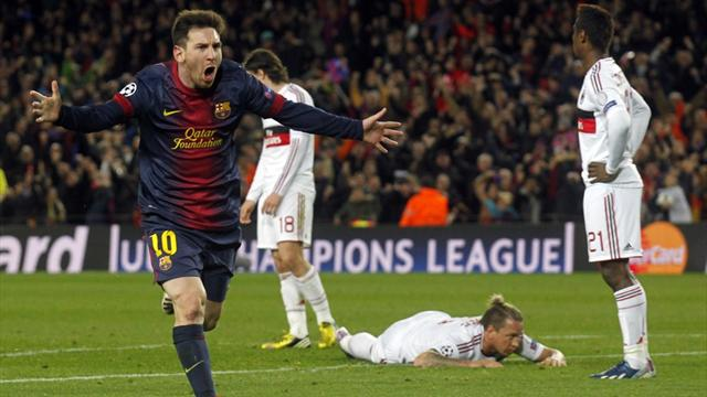 Champions League - Messi guides brilliant Barcelona past Milan