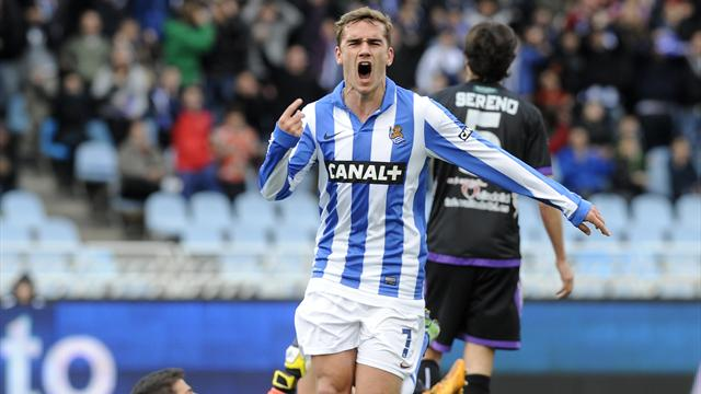 Liga - Griezmann double helps rampant Sociedad up to fourth