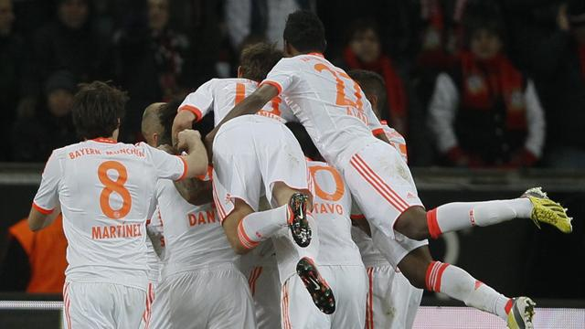 Bundesliga - Late own goal puts Bayern on brink of title