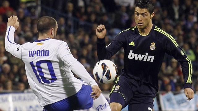 Liga - Ronaldo strike earns draw at Zaragoza