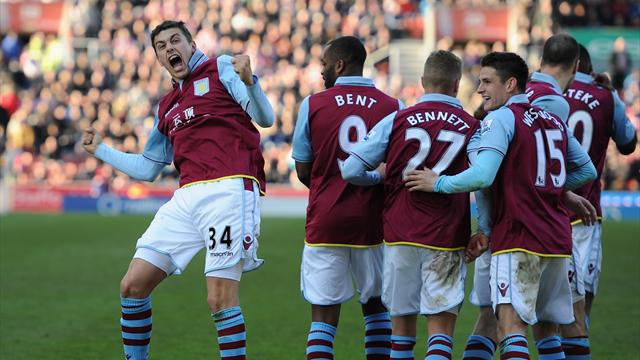 Premier League - Lowton wonder goal for Villa drags Stoke into relegation fight